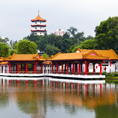 Chinese Garden with 7-storey pagoda, Jurong Park, Singapore