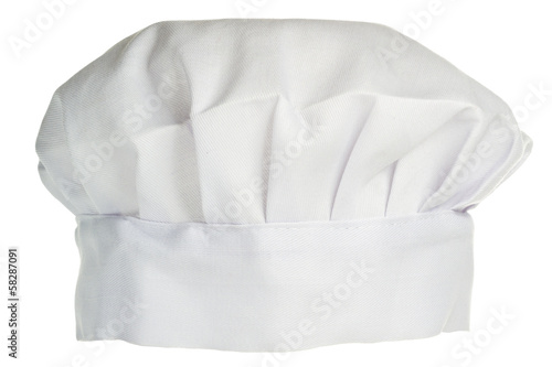 White cook hat isolated on white background