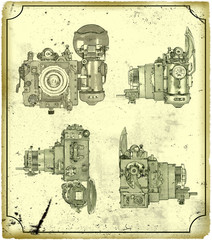 Old drawing of the camera.