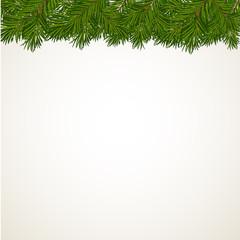 Рождественский фон с елочными ветвями