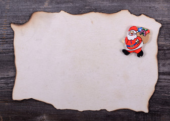 Christmas background - Letter for Santa Claus