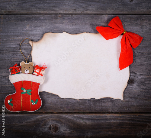 Christmas background -  Message for Santa Claus concept
