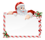 Santa Claus Cartoon Sign