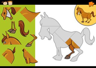 cartoon farm horse puzzle game