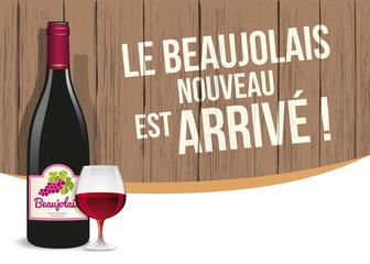 Beaujolais nouveau, vecteur CMJN multicalques