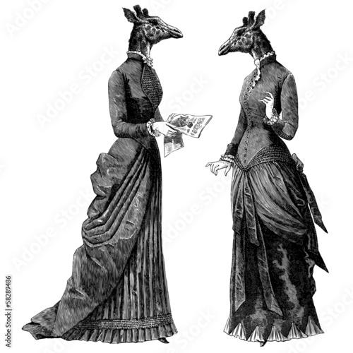 2 femmes girafe
