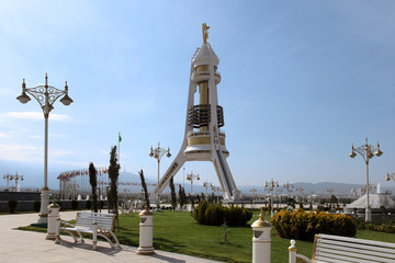 Monument Neutrality Arch. Ashkhabad. Turkmenistan.