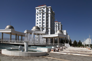 View on the  new modern apartamentes. Ashkhabad. Turkmenistan.