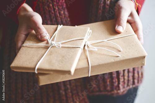 Leinwandbild Motiv winter gift