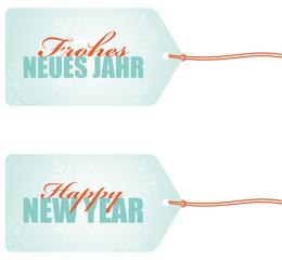 frohes neues jahr happy new year anhänger