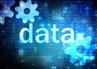 data blue technological background