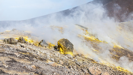Lipari Islands active volcano