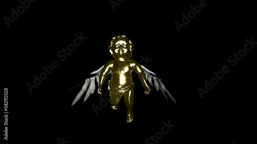 Golden flying Cherub loop. Comes with Alpha