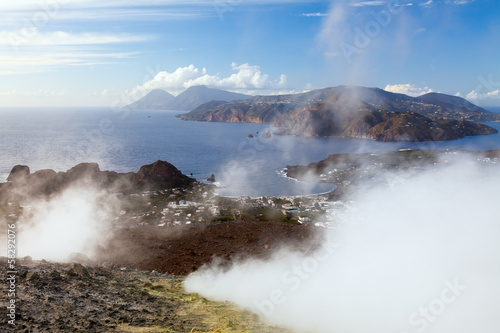 Lipari Islands active volcano