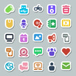 25 basic iconset social media sticker