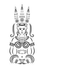 Apsara black silhouette for your design