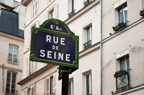 Poster rue de Seine à Paris 6ièm