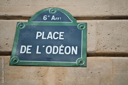 Poster place de l'odéon à Paris 6ièm