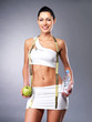 Healthy lifestyle of happy  woman