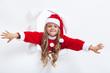 Happy santa girl opening the holidays season
