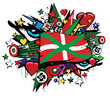 Drapeau Pays Basque ikurrina Euskadi graffiti tag pop art