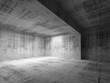 Empty dark abstract concrete room interior. 3d render