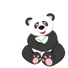 very cute panda sitting