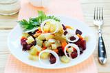 Russian winter vegetable salad