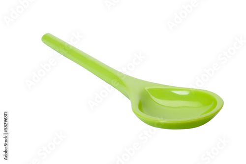 Close-up of a plastic spoon