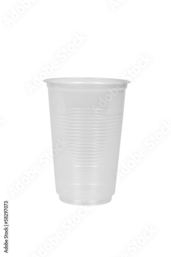 Close-up of a disposable plastic cup