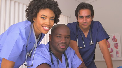 Multi ethnic group of medical doctors