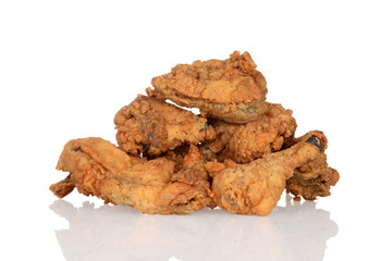Pile of fried chicken