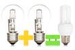 Comparison between a light bulbs