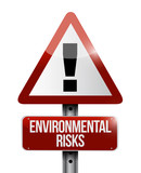environmental risks warning road sign illustration