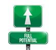 full potential road sign illustration design