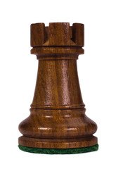 Close-up of a rook chess piece