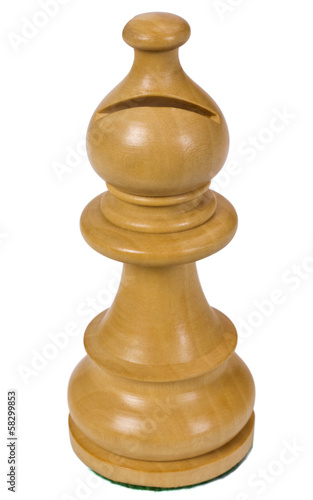 Close-up of a bishop chess piece