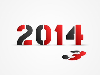 new year 2014 red poster