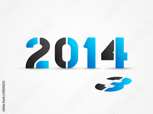 new year 2014 blue poster