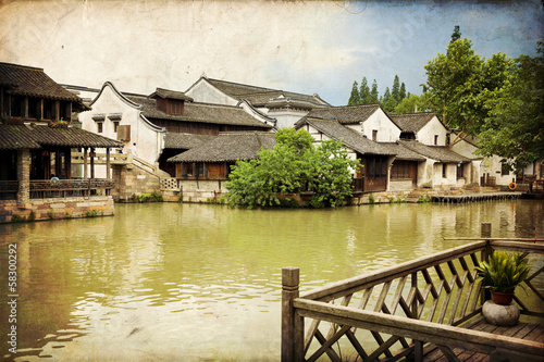 Ancient water town of Wuzhen, China
