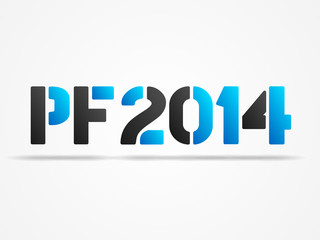 pf 2014 blue poster