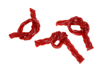 Knotted Twisted Cherry Licorice Sticks