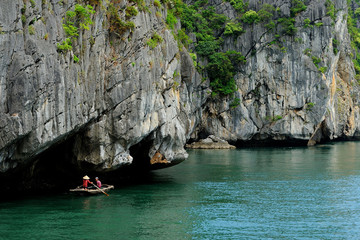 Ha Long Bay - Vietnam - small fishing boat