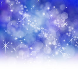 Starry Night Christmas Bokeh Background