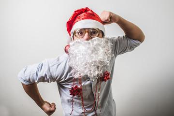 funny santa claus babbo natale myopic