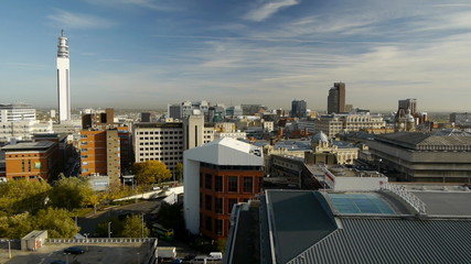 Birmingham city centre skyline.