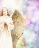 Beautiful Healing Angel on bokeh background