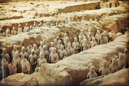 Canvas Xian Chinese terracotta army - Xian