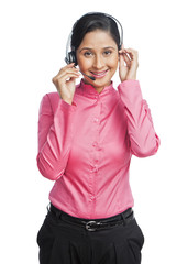 Portrait of a female customer service representative