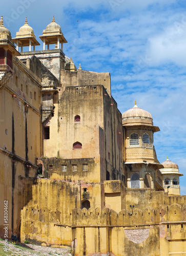 Amber Fort near Jaipur city in Rajasthan, India